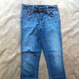 J Brand Released Hem Skinny Capri Jeans